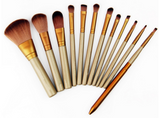 12 Pcs Makeup Toolkit Cosmetic Eyeshadow Foundation Concealer Brushes Set
