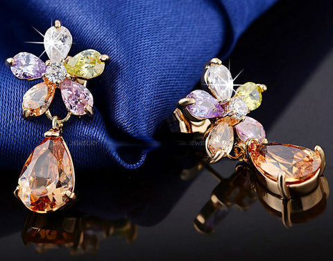 Pear Cut Crystal Earrings