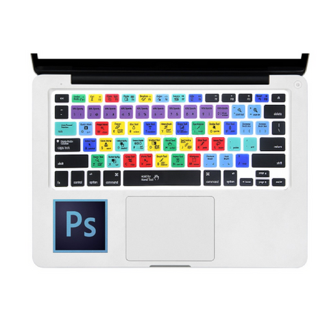 Photoshop Shortcuts Keyboard Cover for Macbook/Apple Keyboards