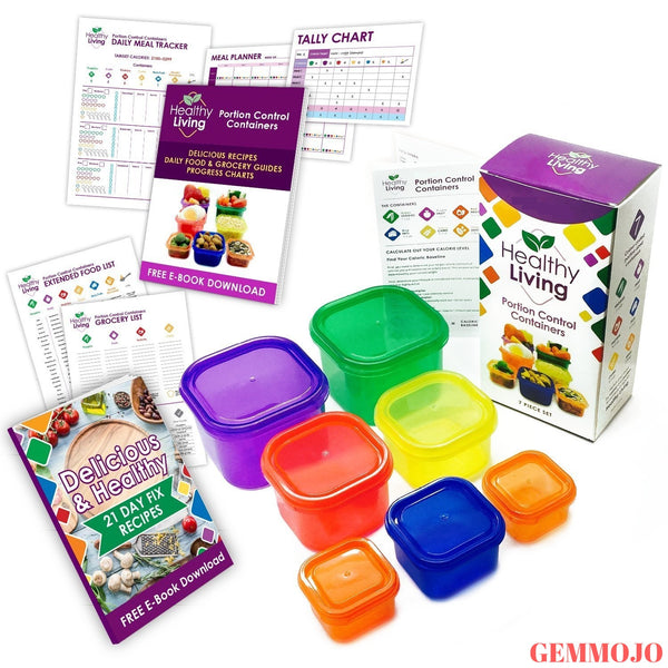 Healthy Living 7 Piece Portion Containers Kit