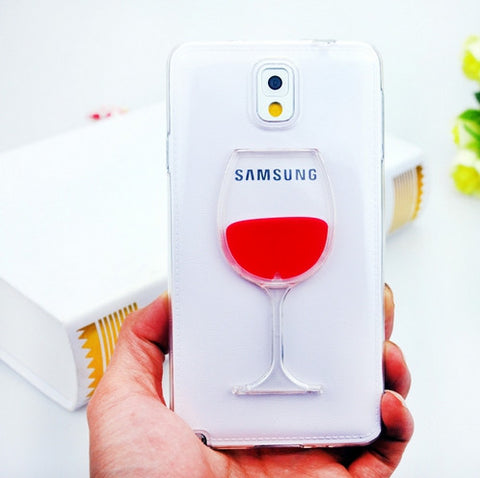 Red Wine Glass Samsung Case Cover