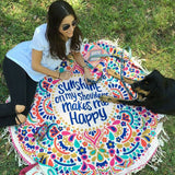 Sunshine Mandala Yoga and Beach Blanket