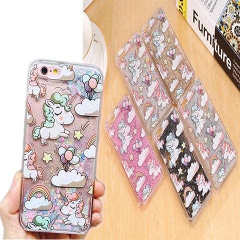 Lovely Unicorn Bling Phone Cases