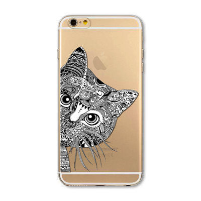Transparent Cat iPhone Covers