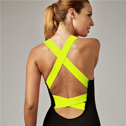 GemActiv Sexy Backless One-piece Jumpsuit Sportswear