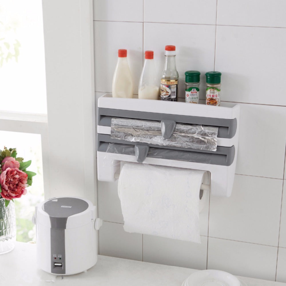 4 in 1 kitchen dispenser rack everyday fridays - Estanterias para cocina ...