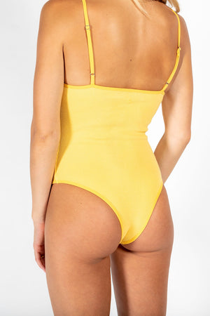 RIBBED COTTON BODYSUIT DAISY
