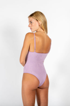 RIBBED COTTON BODYSUIT LILIAC