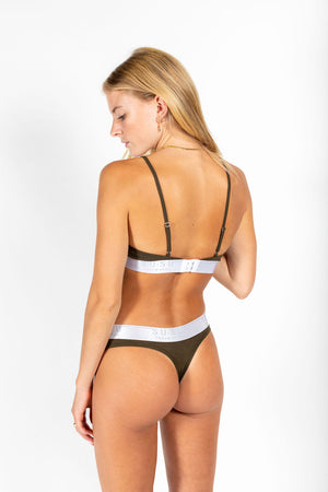 Statement g-string KHAKI GREEN