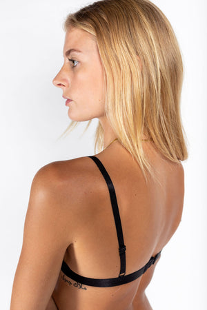 p.m mesh triangle bralette BLACK