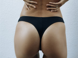 a.m cotton brazilian bottom BLACK