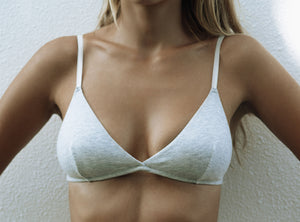 a.m cotton bralette GREY