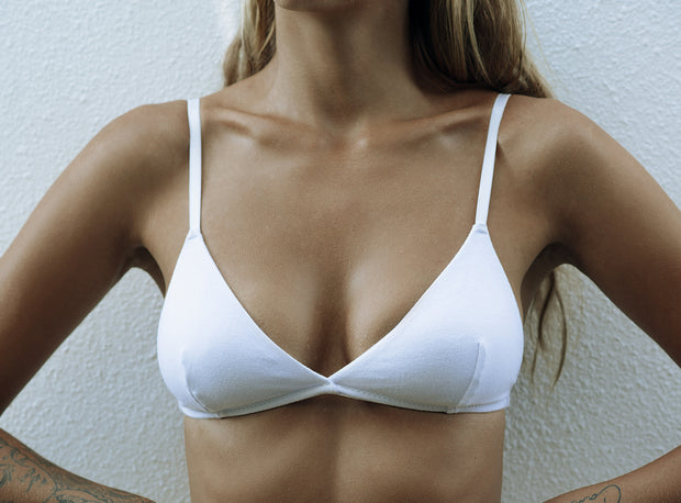 a.m cotton bralette WHITE
