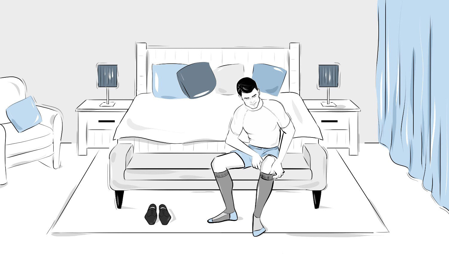 How to prevent socks from falling