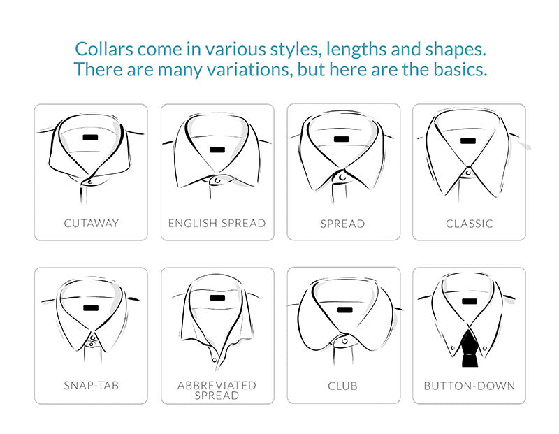 Dress Shirt collars come in many different styles.