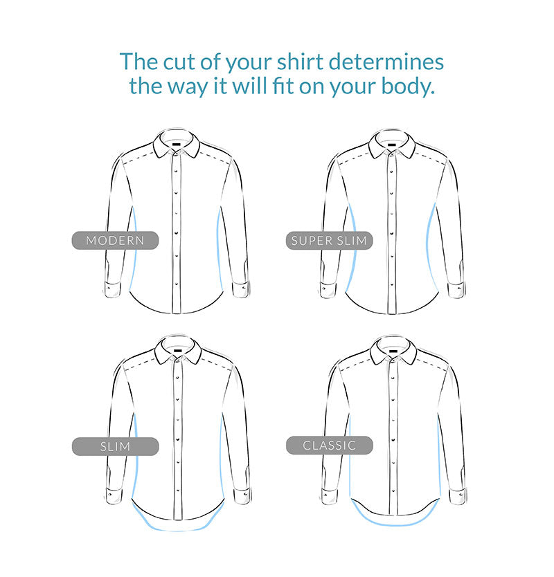 The cut of your dress shirt determines the way it will fit on your body.