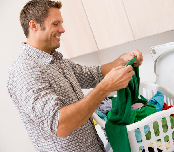 How to Remove Sweat Stains - Man Doing Laundry