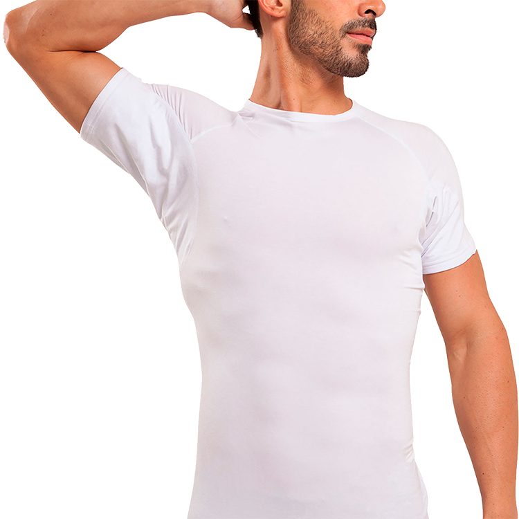Crew Neck Micro Modal Underarm Sweat Proof Undershirt