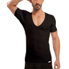 Deep V-Neck Micro Modal Underarm Sweat Proof Undershirt - Ejis, inc.