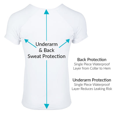 Back & Underarm Sweat Proof V-Neck Micro Modal Undershirt - Ejis
