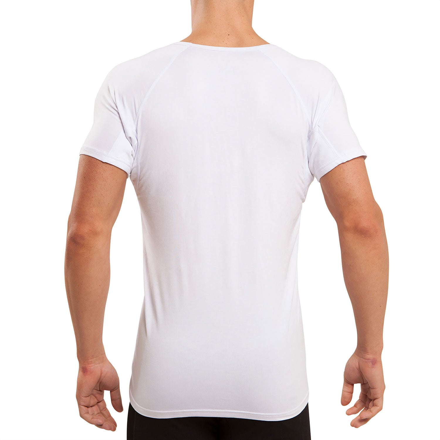 Back & Underarm Sweat Proof V-Neck Micro Modal Undershirt - Ejis, inc.