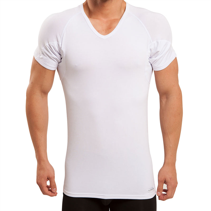 Back & Underarm Sweat Proof V-Neck Micro Modal Undershirt
