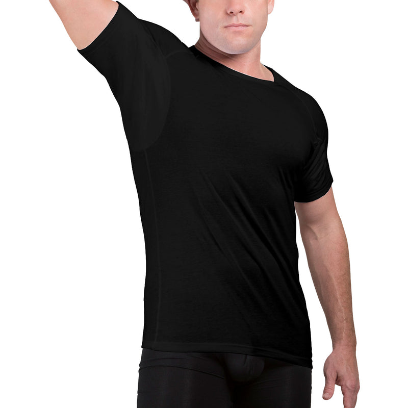 Crew Neck Cotton Underarm Sweat Proof Undershirt - Ejis, inc.