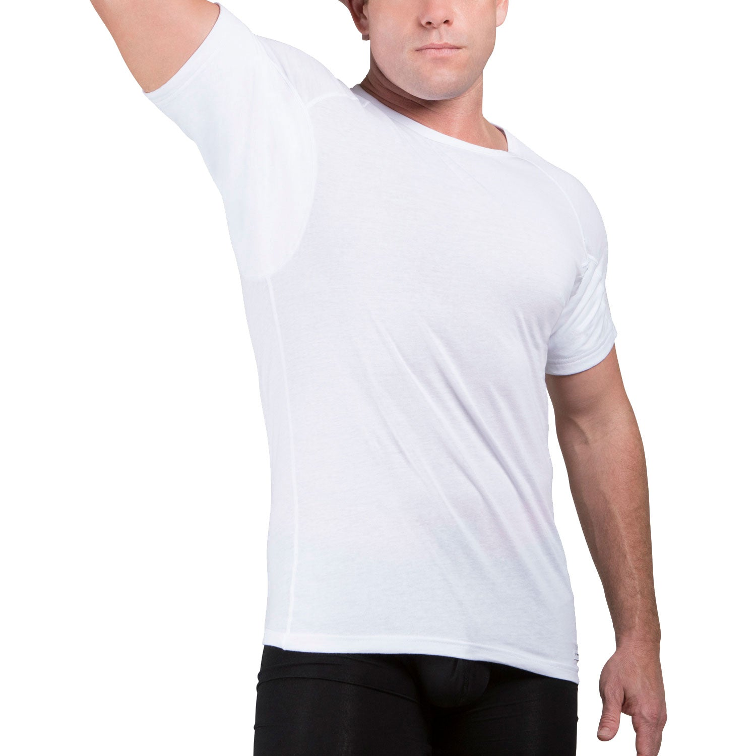 Sweat Defense Undershirt | Crew Neck | Underarm Sweat Proof Cotton