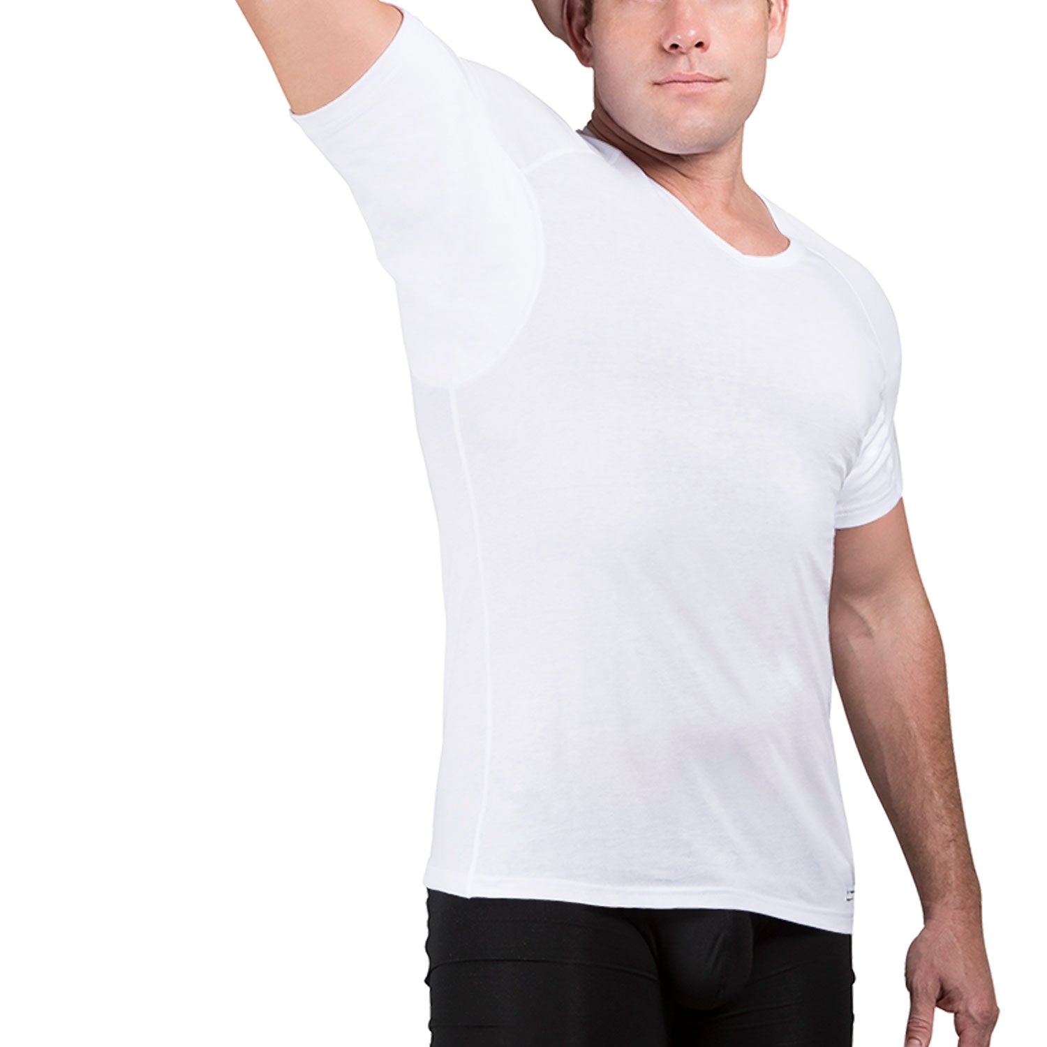 Sweat Defense Undershirt | V Neck | Underarm Sweat Proof Cotton