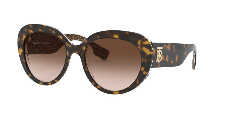 Burberry 4298 Top Dark Havana On TB Brown