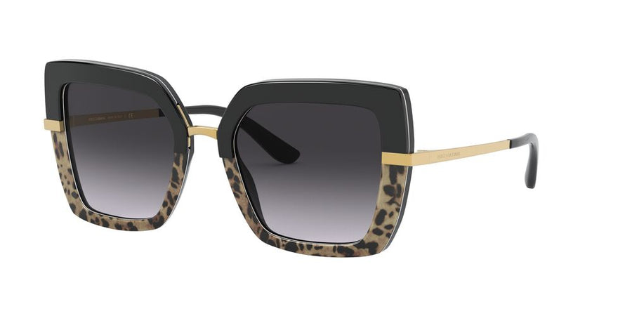 Dolce & Gabbana 4373F Top Black On Print Leopard/Black