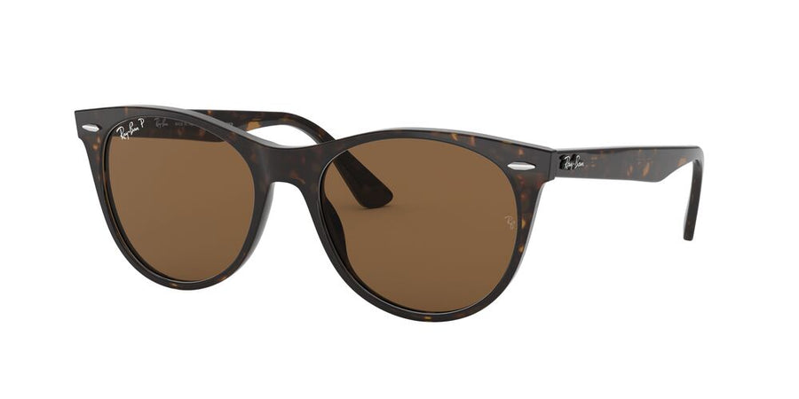Ray-Ban 2185 Wayfarer II Stripped Havana Polarized