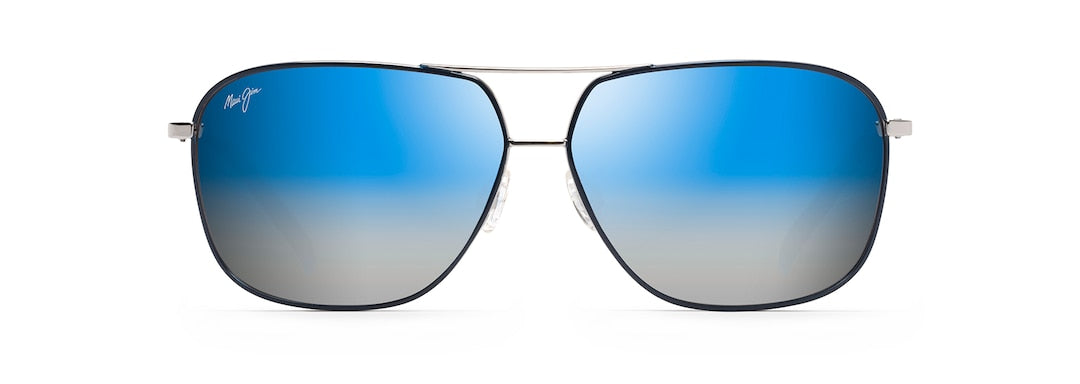 Maui Jim Kami Silver With Navy Blue
