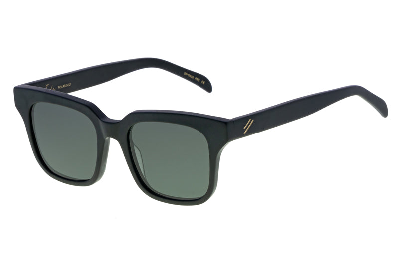 Bask Tide Matte Black Polarised