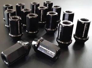 949 Racing Forged Alloy Lugs - Black - Set of 16 - Suits NA And NB Models