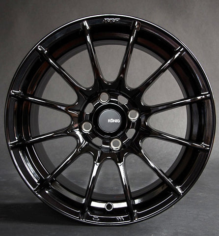 Konig Dial In 15x8 Gloss Black SET OF 4 1990-2005 · 15x8   61-1394