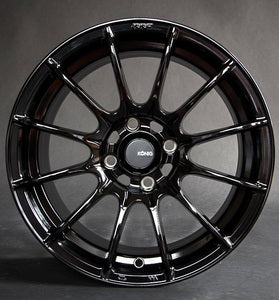 Konig Dial In 15x7 Gloss Black  4X100 PCD SET OF 4 61-1393
