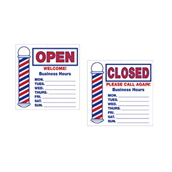 Scalpmaster Open/Close Sign With Business Hours