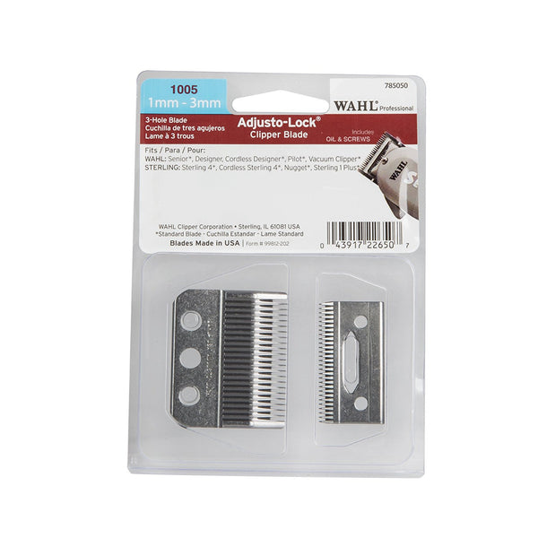 Wahl 3 Hole Adjusto-Lock Clipper Blade #1005