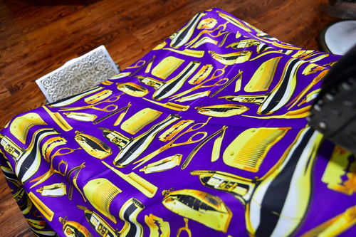 King Midas Crushed Grape Cape (Purple/Gold)