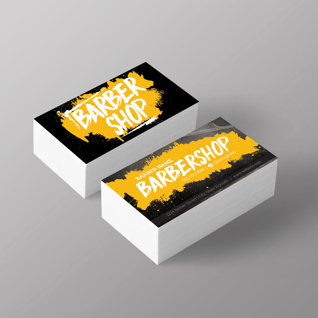 The graffiti business card yellow nj barber supply the graffiti business card yellow reheart Image collections
