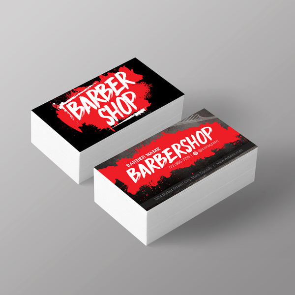 "The ""Graffiti"" Business Card - Red"