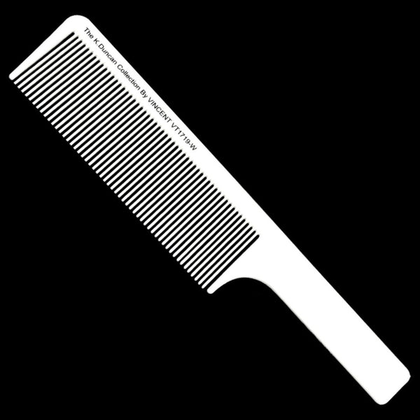 Vincent White Flat Top Comb - Kenny Duncan Collection