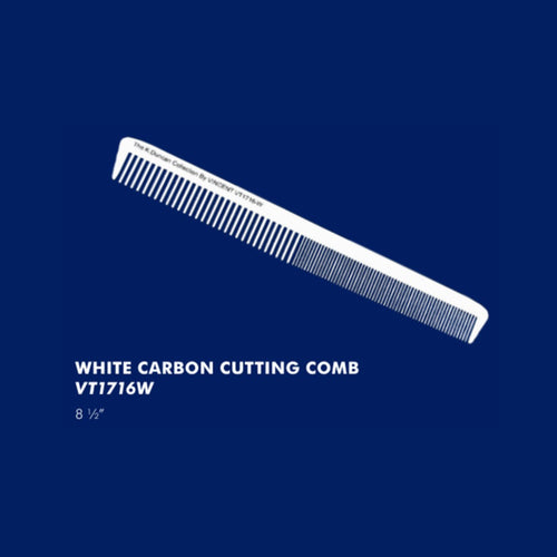 Vincent White Carbon Cutting Comb VT1716W