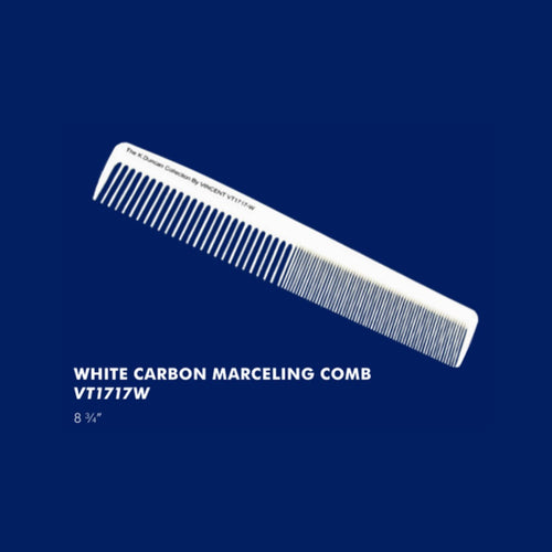 Vincent White Carbon Marceling Comb VT1717W