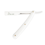 EZ-Blade Pitch White Straight Razor