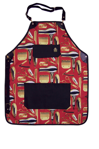 King Midas Gold Blooded Apron (Red/Gold)