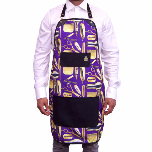 King Midas Crushed Grapes Apron (Purple/Gold)