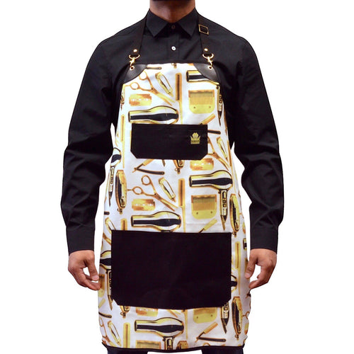 King Midas White Gold Apron (White/Gold)