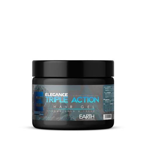 Elegance Triple Action Strong Hold Hair Gel (Blue)